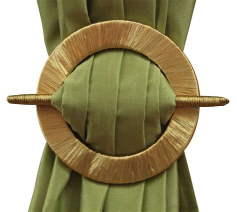 cheap curtain tie backs details about set of 2 decorative curtain holdbacks