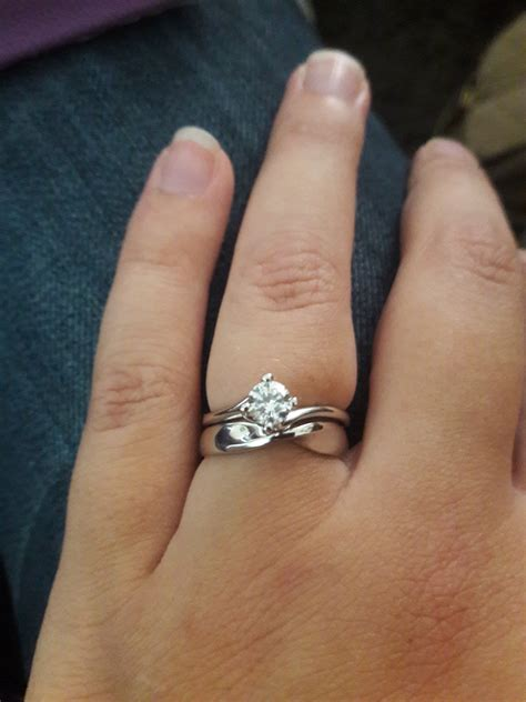Wedding Ring Stack by Ring Stacks With Plain Solitaire Engagement Rings