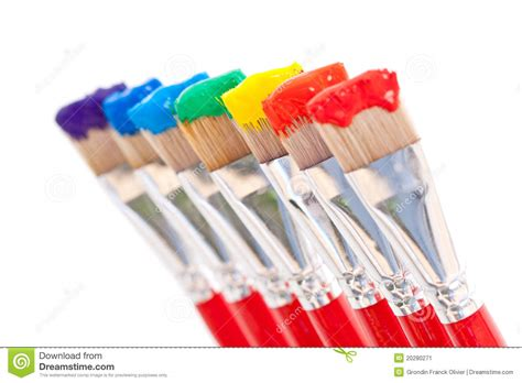 rainbow paint colors stock image image 20280271