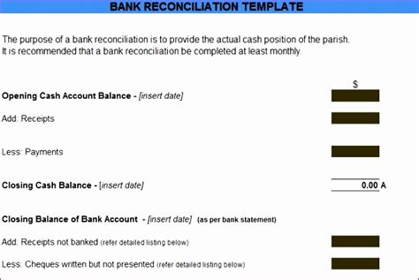 Account Reconciliation Template Excel Znjus Lovely Bank Reconciliation Statement Excel Format Account Reconciliation Template Excel