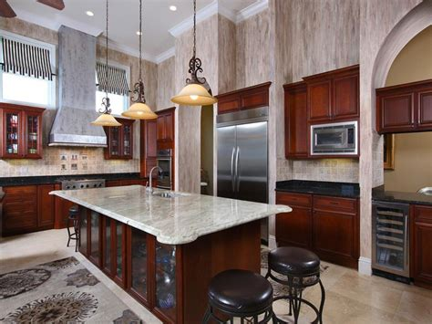 High End Kitchens Designs High End Kitchen With Wallpaper Home Design Exles