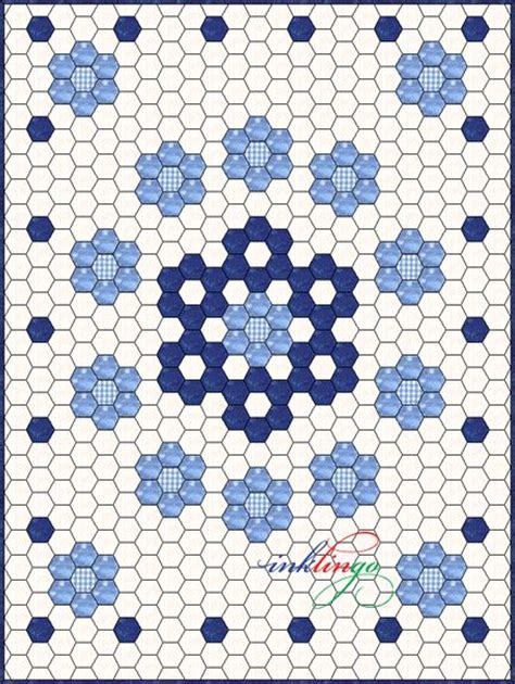 Hexagon Patchwork Patterns Free - inklingo hexagon quilt design hexagon quilts