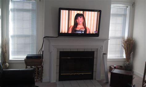 Mount Tv Above Fireplace Hide Wires by Wethersfield Ct Philipstv Mounted Above Fireplace With