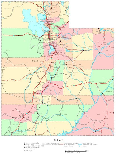 printable maps road utah highways map images