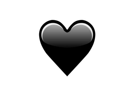 emoji hati hitam emoji black heart apple ekspresikan kesedihan internet