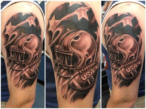 Team USA Tattoo done by Mark Haley at Big Ink Tattoos and ... American Football Tattoos Designs