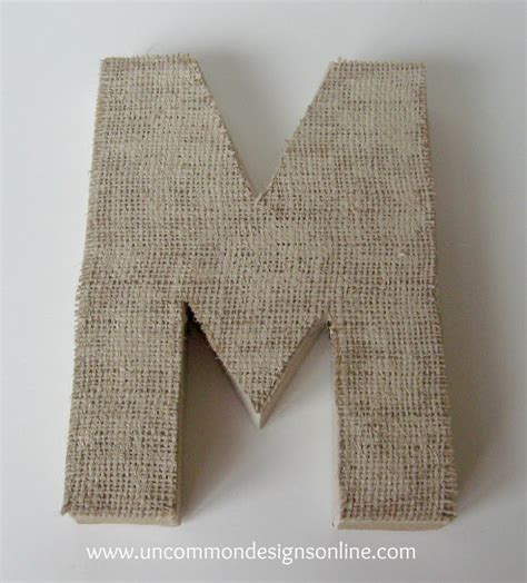 burlap covered letters burlap covered letters step by step