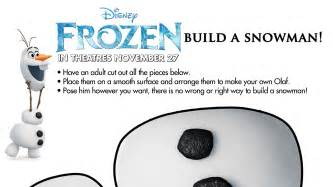 build a snowman coloring page olaf printable from disney frozen olaf template for crafts