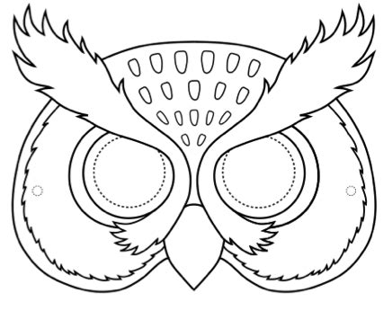 Owl Mask Template by Owl Masks Esl Teaching Materials For Primary