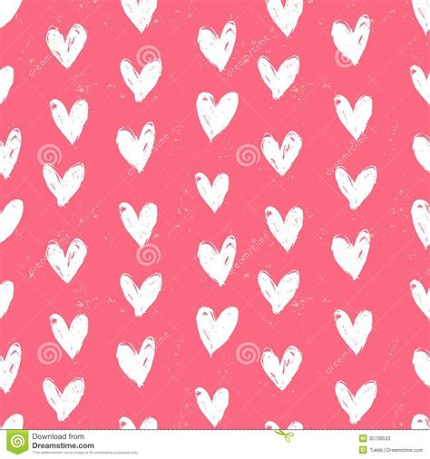 printable wrapping paper hearts velentine s day pattern with hand painted hearts stock