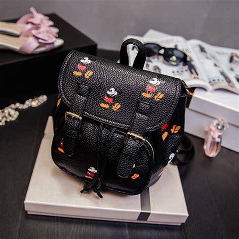 Fashion Mickey Bag fashion mickey mouse print black pu backpack backpacks