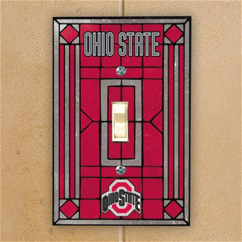 ohio state room decor ohio state osu buckeyes ncaa college glass single light switch plate cover