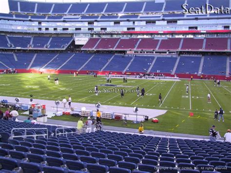 gillette stadium section 111 gillette stadium section 108 new england patriots