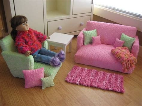 how to make a american girl doll couch 18 inch doll furniture for american girl doll livingroom