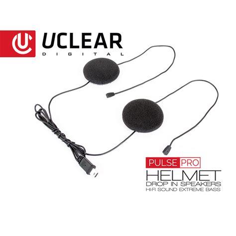 AMP Pro Bluetooth Helmet Audio System ? Single   UCLEAR