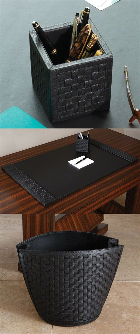 pin  instyle decor hollywood  home office desk blotter desk accessories leather desk pad