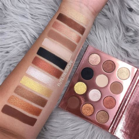 Colourpop Eyepalette I Think I You status in the swatches of i think i you palette colourpopcosmetics i you for