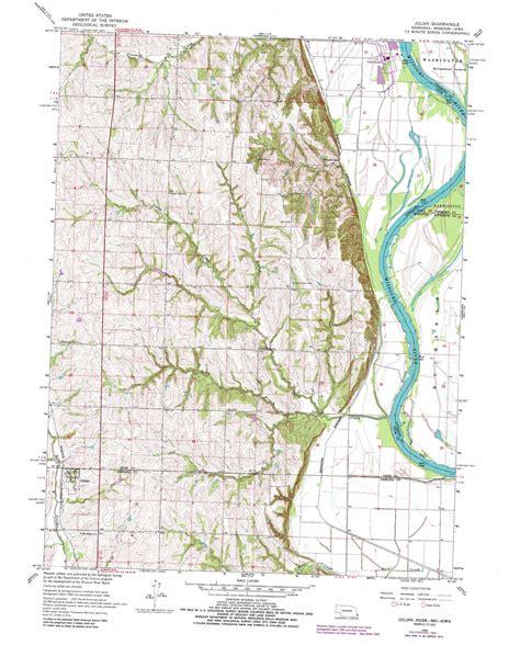 julian california map julian topographic map ne mo ia usgs topo 40095e7