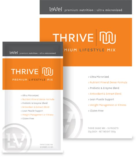 thrive level level thrive weight loss pills a online health magazine