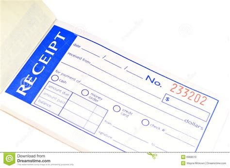 Laravel 5 3 Cashier Customized Receipt Template by Receipt Book Stock Photo Image Of Business Document