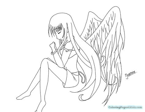 Angel Anime Girl Coloring Pages   Coloring Pages For Kids