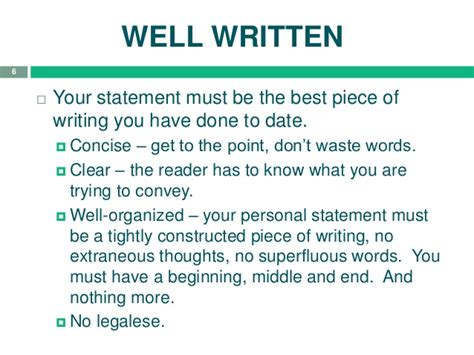 tips for school personal statement