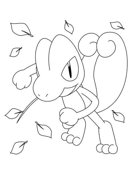 pokemon treecko coloring pages coloring pages