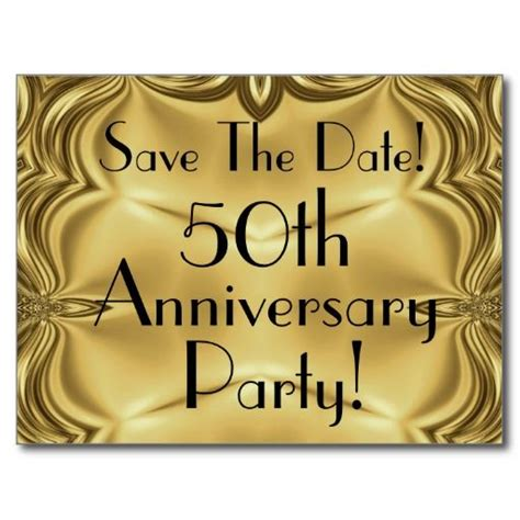 61 Best Images About 50th Wedding Anniversary On Pinterest Save The Date Anniversary Templates