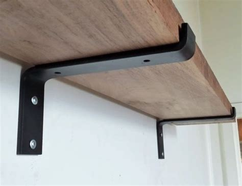 Make Shelf Brackets by Handmade 10 Quot Industrial Light Load Shelf Bracket Black