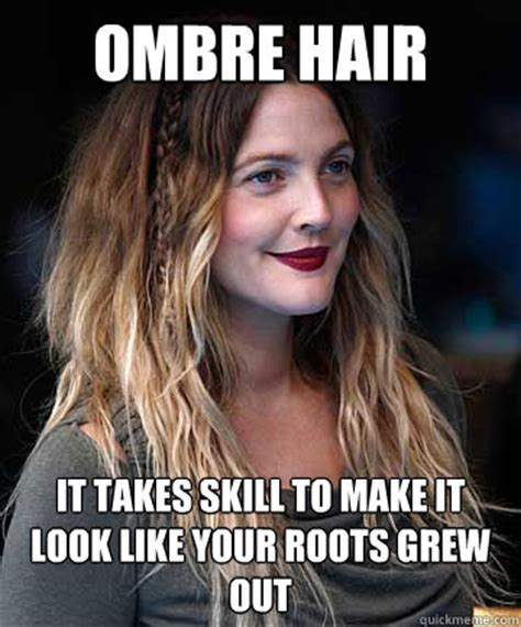 Hair Extension Meme - ombre hair funny meme