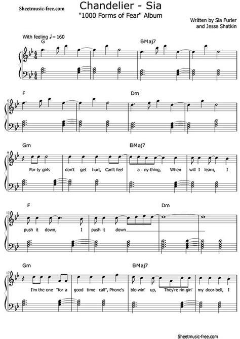 Sia Chandelier Chords Chandelier Sheet Sia Sheet Free