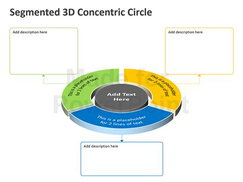 Segmented 3d Concentric Circle Powerpoint Presentation How To Make Concentric Circles In Powerpoint
