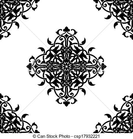 Indian Wedding Home Decoration vector illustration of decorative fractal in arabic or