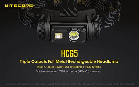 Nitecore Hc65 Headl Series Cree Xm L2 U2 1000 Lumens Nitecore Hc65 Rechargeable Led Headl Cree Xm L2 U2 1000 Lumens Uses 1 X 18650