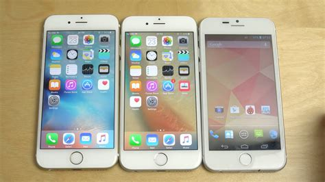 Iphone 6 Ios 9 by Iphone 6 Official Ios 9 Vs Iphone 6 Ios 9 1 Beta Vs Goophone I6 Speed Test