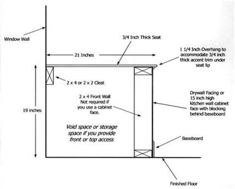 standard benchtop depth window seat plan ask the builder
