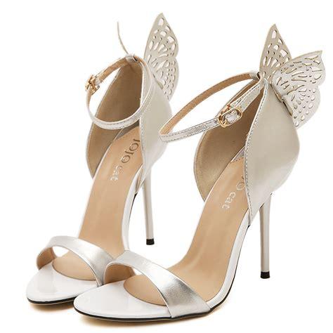 new 2015 butterfly sandals wedding shoes high heel