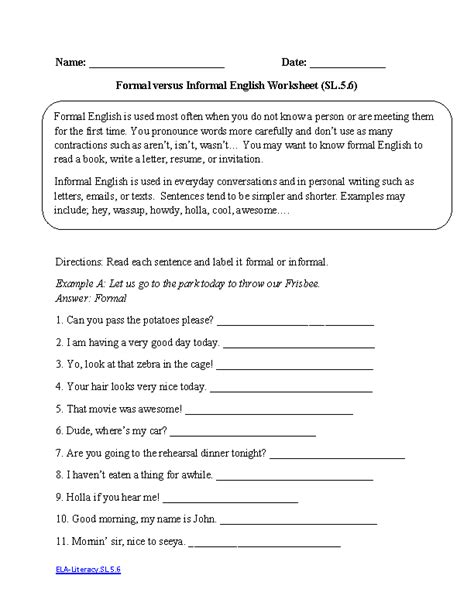 Printable English Worksheets Grade 5 | 16 best images of 5 grade english worksheets grammar