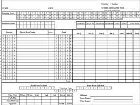 Printable Basketball Score Sheet Pdf by Printable Basketball Score Sheets In Pdf