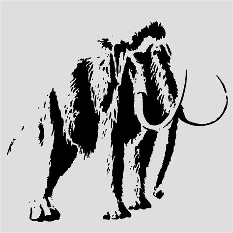 36x48 3 layer stencil of woolly mammoth dinosaur stencil 3 layer sp stencils