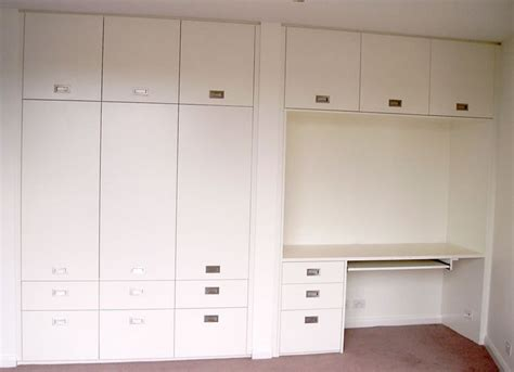 kids bedroom cupboards polyurethane hinged cupboard with desk study unit