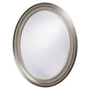 33 in x 25 in brushed nickel framed mirror 40109
