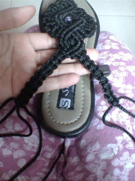 membuat tali sendal  tali kur