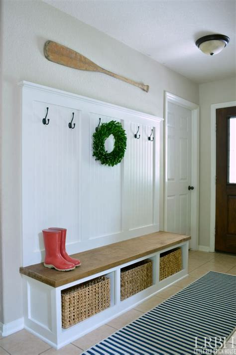 Mudroom Storage Bench 32 Small Mudroom And Entryway Storage Ideas Shelterness