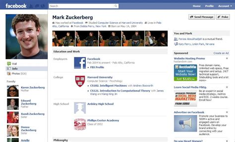 facebook themes change layouts mark zuckerberg facebook profile www pixshark com