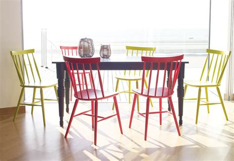 dining table colourful dining table and chairs