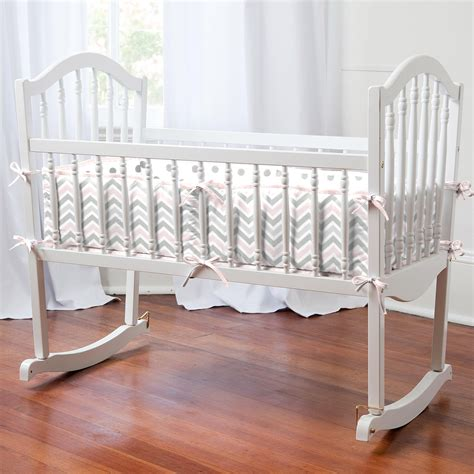gray chevron baby bedding pink and gray chevron cradle bedding carousel designs