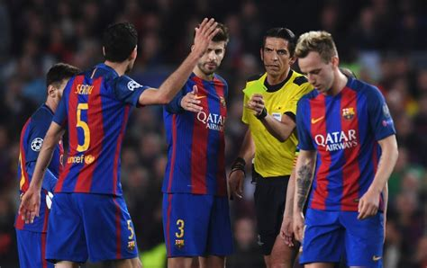 barcelona referee barcelona vs psg ref is in trouble after suspect decisions