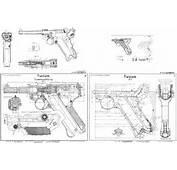 Luger P08 Blueprint  Download Free For 3D Modeling