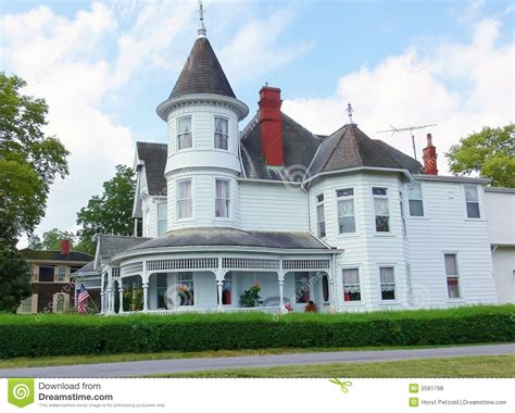Historic Victorian House Plans by Old White Victorian House Royalty Free Stock Photos